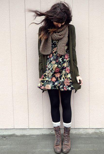 combat boot dress